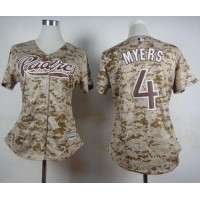 Padres #4 Wil Myers Camo Alternate 2 Women's Stitched Baseball Jersey