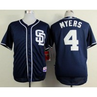 Padres #4 Wil Myers Dark Blue Alternate 1 Cool Base Stitched Baseball Jersey