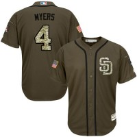 Padres #4 Wil Myers Green Salute to Service Stitched Baseball Jersey