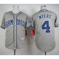 Padres #4 Wil Myers Grey Cool Base Stitched Baseball Jersey