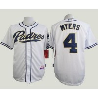 Padres #4 Wil Myers White Cool Base Stitched Baseball Jersey