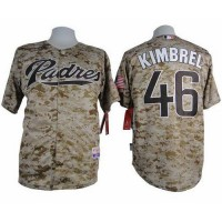 Padres #46 Craig Kimbrel Camo Alternate 2 Cool Base Stitched Baseball Jersey