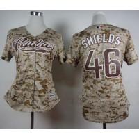Padres #46 Craig Kimbrel Camo Alternate 2 Women's Stitched Baseball Jersey