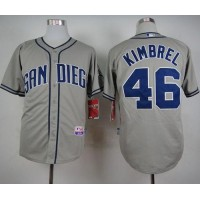 Padres #46 Craig Kimbrel Coffee Grey Cool Base Stitched Baseball Jersey