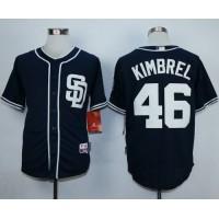 Padres #46 Craig Kimbrel Dark Blue Alternate 1 Cool Base Stitched Baseball Jersey