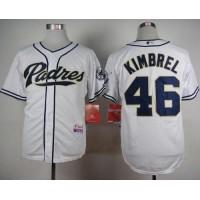 Padres #46 Craig Kimbrel White Cool Base Stitched Baseball Jersey