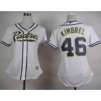 Padres #46 Craig Kimbrel White Home Women's Stitched Baseball Jersey