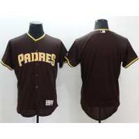 Padres Blank Brown Flexbase Authentic Collection Stitched Baseball Jersey