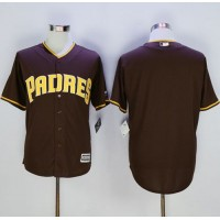 Padres Blank Brown New Cool Base Stitched Baseball Jersey