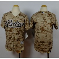 Padres Blank Camo Alternate 2 Stitched Youth Baseball Jersey