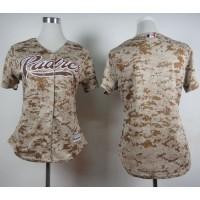 Padres Blank Camo Alternate 2 Women's Stitched Baseball Jersey
