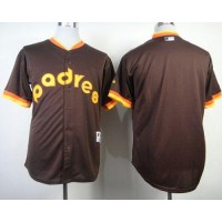 Padres Blank Coffee 1984 Turn Back The Clock Stitched Baseball Jersey