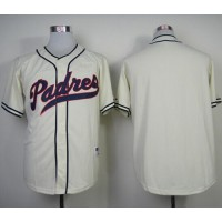 Padres Blank Cream 1948 Turn Back The Clock Stitched Baseball Jersey