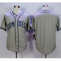 Padres Blank Grey Cool Base Stitched Baseball Jersey