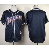 Padres Blank Navy Blue 1998 Turn Back The Clock Stitched Baseball Jersey