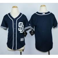 Padres Blank Navy Blue Alternate 1 Stitched Youth Baseball Jersey