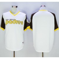 Padres Blank White 1978 Turn Back The Clock Stitched Baseball Jersey