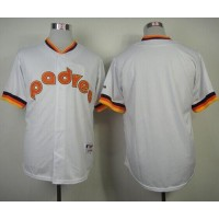Padres Blank White 1984 Turn Back The Clock Stitched Baseball Jersey