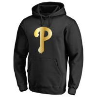 Philadelphia Phillies Gold Collection Pullover Hoodie Black