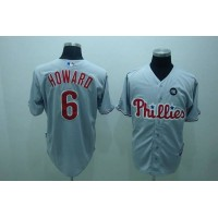 Phillies #6 Ryan Howard Stitched Grey Baseball Jersey