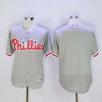 Phillies Blank Grey Flexbase Authentic Collection Stitched Baseball Jersey