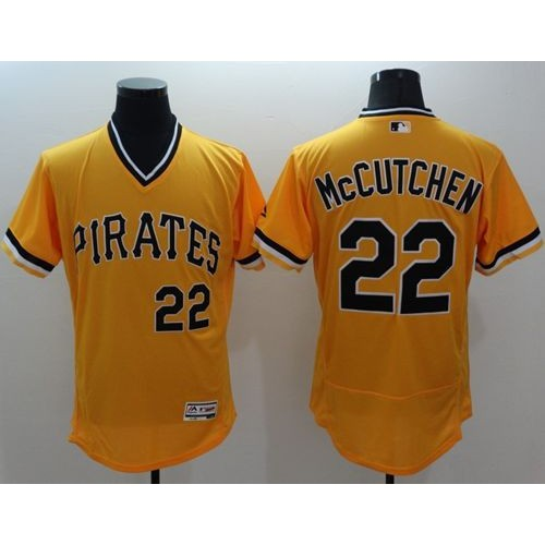 92588ef99 Pirates  22 Andrew McCutchen Gold Flexbase Authentic Collection Cooperstown  Stitched Baseball Jersey