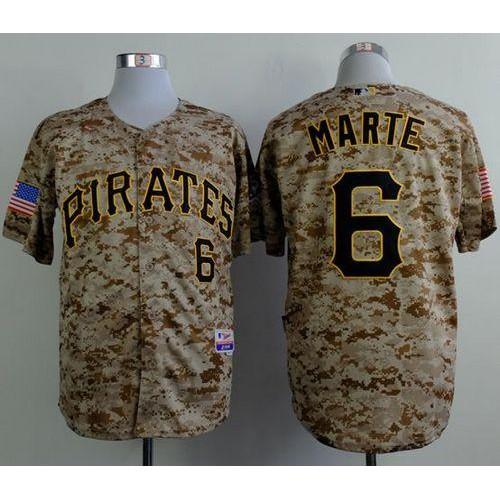 info for d6eb7 c8afa Pirates  6 Starling Marte Camo Alternate Cool Base Stitched Baseball Jersey