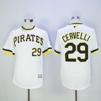 Pittsburgh Pirates #29 Francisco Cervelli White Flexbase Authentic Collection Cooperstown Stitched Baseball Jersey