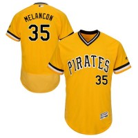 Pittsburgh Pirates #35 Mark Melancon Gold Flexbase Authentic Collection Cooperstown Stitched MLB Jersey
