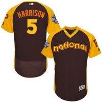 Pittsburgh Pirates #5 Josh Harrison Brown Flexbase Authentic Collection 2016 All-Star National League Stitched Baseball Jersey