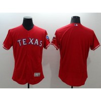 Rangers Blank Red Flexbase Authentic Collection Stitched Baseball Jersey