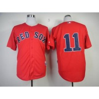 Red Sox #11 Clay Buchholz Red Cool Base Stitched Baseball Jersey