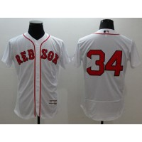 Red Sox #34 David Ortiz White Flexbase Authentic Collection Stitched Baseball Jersey