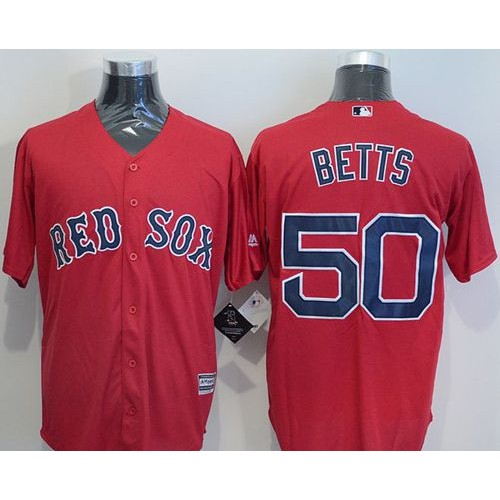 Red Sox  50 Mookie Betts Red Cool Base Stitched Baseball Jersey 860ccb81de8