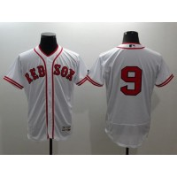 Red Sox #9 Ted Williams White Flexbase Authentic Collection Cooperstown Stitched Baseball Jersey