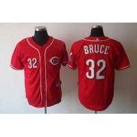 Reds #32 Jay Bruce Red Cool Base Stitched Baseball Jersey