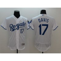 Royals #17 Wade Davis White Flexbase Authentic Collection Stitched Baseball Jersey