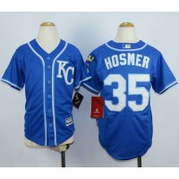 Royals #35 Eric Hosmer Blue Alternate 2 Cool Base Stitched Youth Baseball Jersey