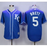 Royals #5 George Brett Blue Alternate 2 New Cool Base Stitched Baseball Jersey