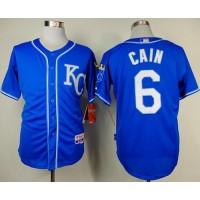 Royals #6 Lorenzo Cain Light Blue Alternate 2 Cool Base Stitched Baseball Jersey