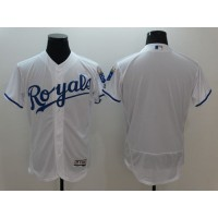 Royals Blank White Flexbase Authentic Collection Stitched Baseball Jersey