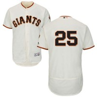 San Francisco Giants #25 Barry Bonds Cream Flexbase Authentic Collection Stitched MLB Jersey