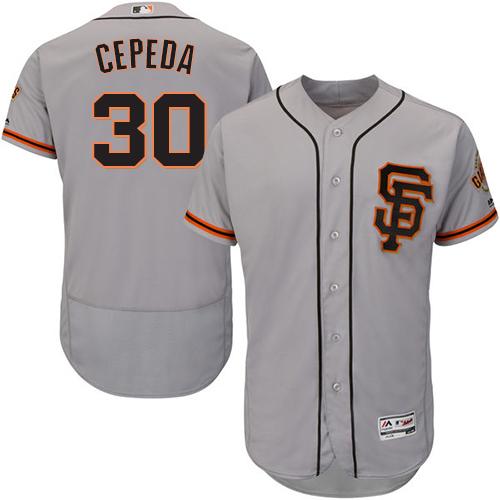 30e1b010 San Francisco Giants #30 Orlando Cepeda Grey Flexbase Authentic ...
