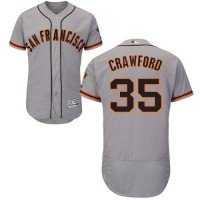 San Francisco Giants #35 Brandon Crawford Grey Flexbase Authentic Collection Road Stitched MLB Jersey