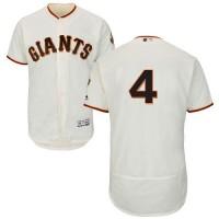 San Francisco Giants #4 Mel Ott Cream Flexbase Authentic Collection Stitched MLB Jersey