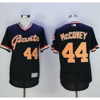 San Francisco Giants #44 Willie McCovey Black Flexbase Authentic Collection Cooperstown Stitched Baseball Jersey