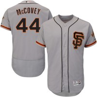 San Francisco Giants #44 Willie McCovey Grey Flexbase Authentic Collection Road 2 Stitched MLB Jersey