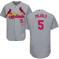St.Louis Cardinals #5 Albert Pujols Grey Flexbase Authentic Collection Stitched MLB Jersey