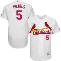 St.Louis Cardinals #5 Albert Pujols White Flexbase Authentic Collection Stitched MLB Jersey