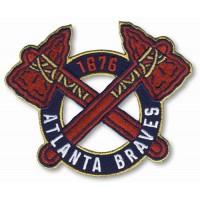Stitched Baseball Atlanta Braves Alternate Home Sleeve Patch